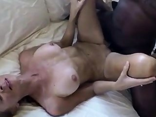 Slim white wife sucks & fucks BBC